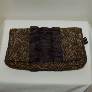 NWOT 1154 Lill Studio Black And Brown Clutch Purse